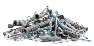 Pile of nuts and bolts Stock Photography