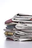 Pile o f newspaper Royalty Free Stock Photography