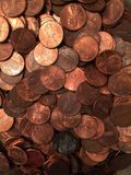 Pile o pennies Royalty Free Stock Photography