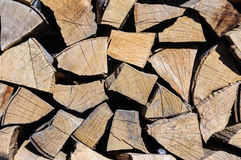 Pile oak wood detail Royalty Free Stock Image