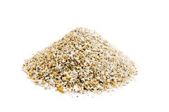 Pile of oat bran isolated on white background royalty free stock photography