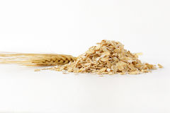Pile of oat flakes Stock Image