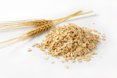 Pile of oat flakes Royalty Free Stock Photography