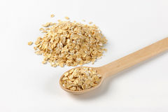 Pile of oat flakes Royalty Free Stock Photo