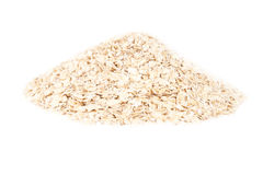 Pile of oatmeal isolated on white Royalty Free Stock Photography