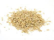 Pile of oatmeal isolated on white background.  stock photo