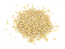 Pile of oatmeal isolated on white background.  stock photography