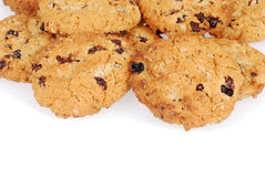 Pile of oatmeal raisin cookies Royalty Free Stock Photo