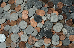 Pile Of American Coins Royalty Free Stock Images