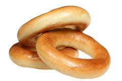 Pile Of Bagels On A White Background Royalty Free Stock Images