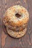 Pile Of Bagels With Sesame Seeds Royalty Free Stock Photos