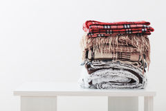 Free Pile Of Blankets On  White Background Stock Image - 86073121