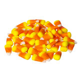 Pile Of Candy Corn For Halloween, Isolated Royalty Free Stock Photography