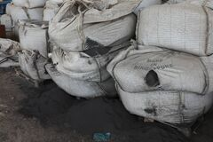 Free Pile Of Cement Bags In A Factory, Jeddah, Saudi Arabia, Feb 2020 Stock Photography - 187851132