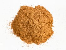 Free Pile Of Cinnamon Powder Close Up On Gray Royalty Free Stock Images - 220201309