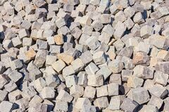 Free Pile Of Cobblestones In Grey Tone Stock Images - 203879444