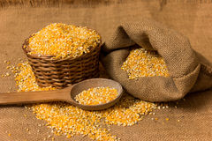 Free Pile Of Corn Grits Royalty Free Stock Images - 55827809