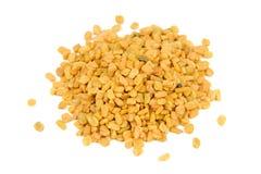 Free Pile Of Fenugreek Seeds Isolated On White Background Stock Image - 45907061