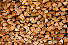 Pile Of Fire Wood Royalty Free Stock Photos