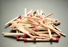 Pile Of Matches Stock Photo