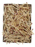 Pile Of Matches Over Empty Boxes Stock Images