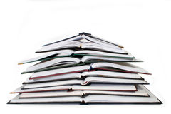 Pile Of Notebooks Royalty Free Stock Photos