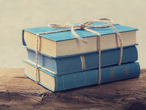 Pile Of Old Blue Books Stock Photography