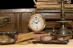 Free Pile Of Old Books And Different Things Stock Image - 12865681