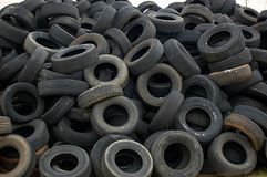 Pile Of Old Used Autombile Tires Stock Photos