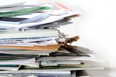 Pile Of Paper. Stock Image