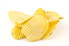 Pile Of Potato Chips Stock Image