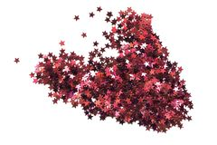 Pile Of Red Glitter Royalty Free Stock Images