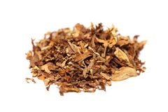 Pile Of Spilled Tobacco (isolated) Royalty Free Stock Photos