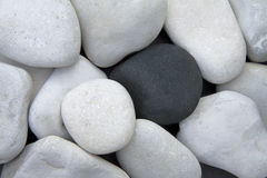 Free Pile Of White Stones And One Black Stone Royalty Free Stock Images - 16180349
