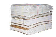 A pile of office documents Royalty Free Stock Photo