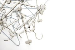 Pile og coat hangers Stock Photos
