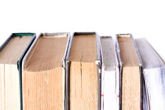 Pile of Old Antique Books on white background Royalty Free Stock Photography
