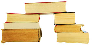 Pile of old books. On a white background Stock Image