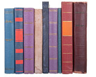 Pile of old books. On a white background Stock Photography