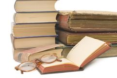 Pile of old books Stock Images