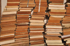 A pile of old books Stock Photography