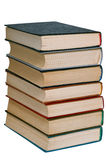 Pile of old books . Pile of old books on a white background Royalty Free Stock Photography