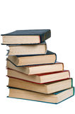 Pile of old books . Pile of old books on a white background Royalty Free Stock Photo