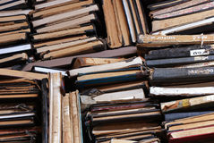 A pile of old books Stock Photo
