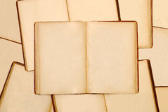 Pile of old books. Pile of old open books royalty free stock images