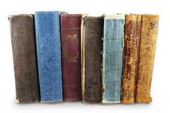 Pile of old books. Pile of ancient, antiquarian books on a white background Royalty Free Stock Images