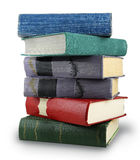 Pile of old books. Pile of ancient books on a white background Royalty Free Stock Images