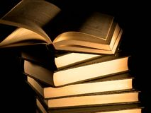 Pile of old books isolated stock footage