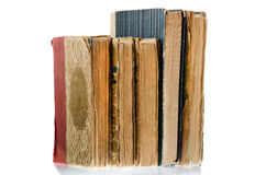 Pile of old books, isolated Stock Photo