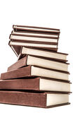 Pile of old books isolated on white background Royalty Free Stock Images